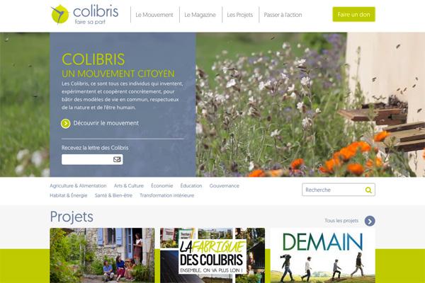 le nouveau site de Colibris !